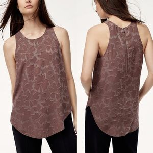 Wilfred sevres blouse floral jacquard tank mauve